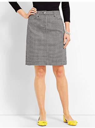 Talbots Denim Pencil Skirt - Gingham