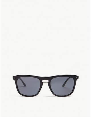 Giorgio Armani Mens Black Classic Ar8107 Square-Frame Sunglasses