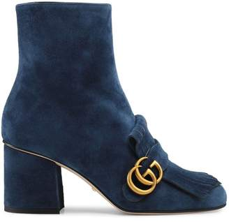 Gucci Suede ankle boot with Double G