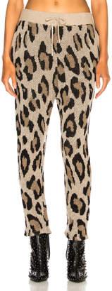 R 13 Cashmere Leopard Pant