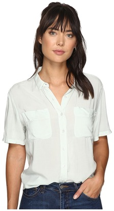 Obey - St. Marina Button Down Shirt Women's Long Sleeve Button Up $53 thestylecure.com