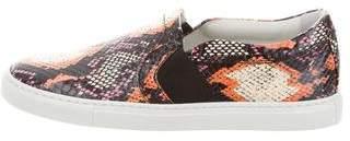 Lanvin Snakeskin Slip-On Sneakers w/ Tags
