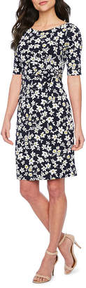 Jessica Howard Short Sleeve Floral Sheath Dress