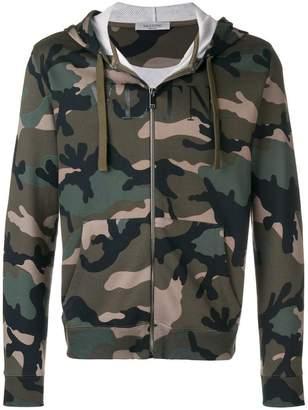 Valentino front zip hoodie