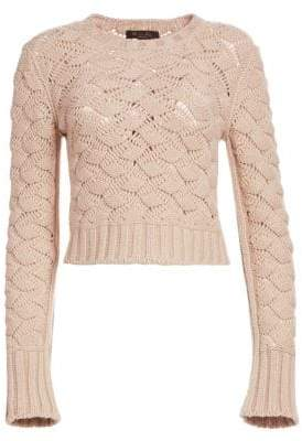 Loro Piana Aveyron Cashmere Long Sleeve Cropped Sweater