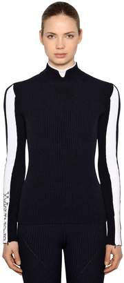 Sportmax Stretch Cashmere Rib Knit Sweater