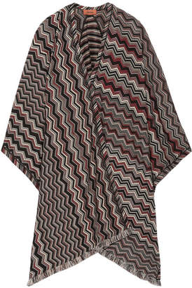 Missoni - Fringed Crochet-knit Wool-blend Wrap - Black $920 thestylecure.com