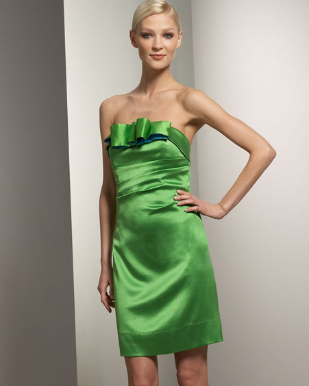 Phoebe Couture Satin Bow Dress