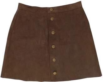 American Apparel Brown Suede Skirts