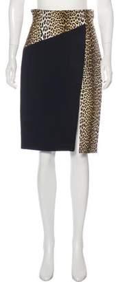 Ungaro Knee-Length Printed Skirt w/ Tags