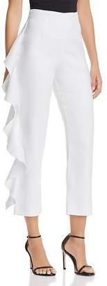 Karina Grimaldi Marcus Cropped Ruffled Pants