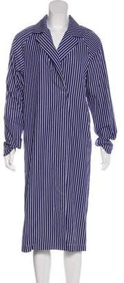 Tome Striped Midi Coat Dress