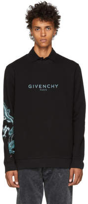 Givenchy Black Capricorn Dragon Logo Sweatshirt
