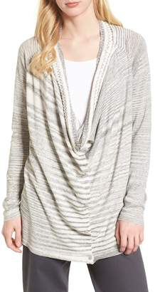 Nic+Zoe Time Change Cowl Neck Cardigan (Regular & Petite)