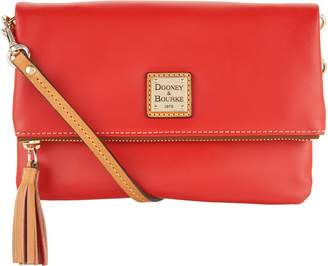 Dooney & Bourke Smooth Leather Foldover Crossbody Handbag