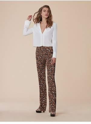 Diane von Furstenberg Cuffed Long-Sleeve V-Neck Shirt
