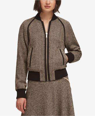 DKNY Tweed Bomber Jacket