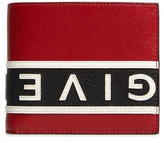 Givenchy Reverse Logo Band Leather Wallet