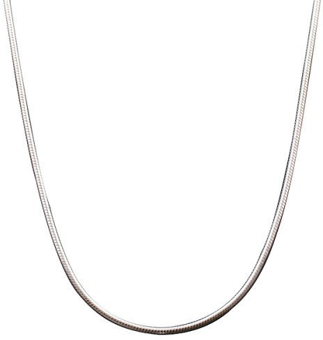 Sterling Silver Italian Simple Round Snake Chain