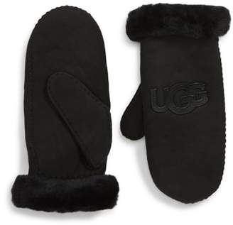 UGG Collection Logo Genuine Shearling Mittens