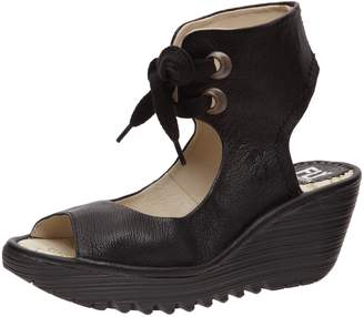 Fly London Women's Yaffa Ankle Strap Wedge