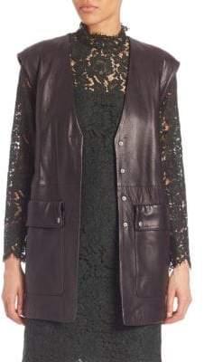 SET Belted Leather Vest