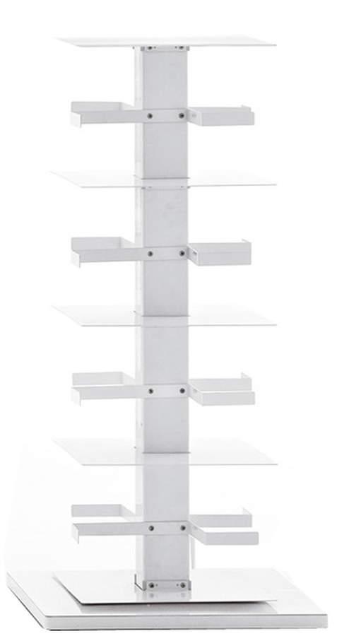 Opinion Ciatti - Ptolomeo X4 Bücher-Karussell, PTX4-B 110, Weiß