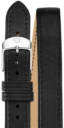 Michele Double Wrap Leather Watch Strap, 16mm