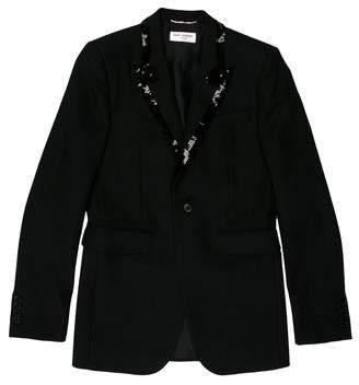 Saint Laurent Sequin-Embellished Tuxedo Blazer