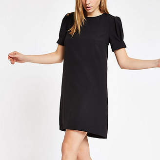 River Island Black puff sleeve swing dress