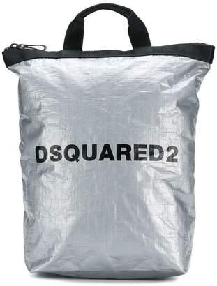 DSQUARED2 metallic logo backpack