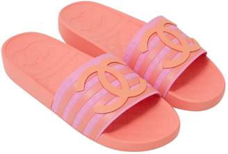 Chanel Pink Rubber Sandals