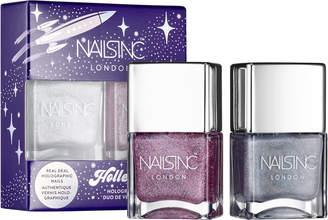 Nails Inc Holler-Graphic Holographic Nail Polish Duo