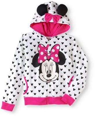 Minnie Mouse Girls' Graphic 3D Ear Costume Hoodie