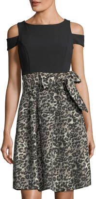 Eliza J Cold-Should Fit & Flare Dress