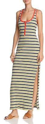Splendid x Margherita Striped Rib-Knit Maxi Dress