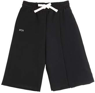 N°21 Crepe & Twill Cropped Pants
