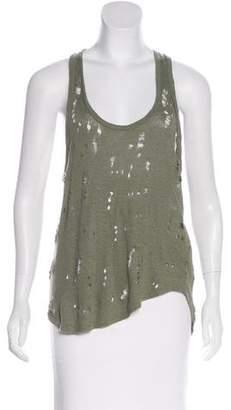 IRO Distressed Linen Jersey Top