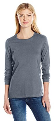 American Apparel Women's Fine Jersey Classic Long Sleeve T-Shirt $24 thestylecure.com
