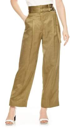 Sandro Double Belt Crop Wide Leg Pants