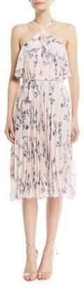 Shoshanna Floral-Print Halter Cocktail Dress