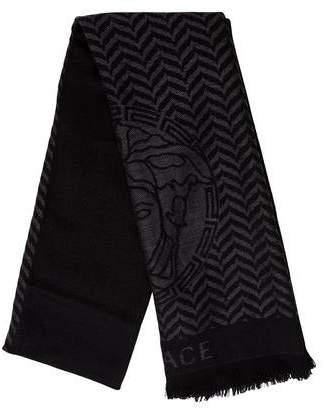 Versace Medusa Wool Scarf w/ Tags