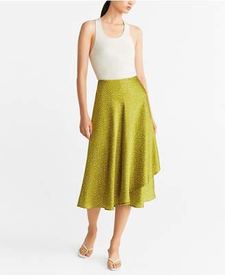MANGO Polka Dots Midi Skirt