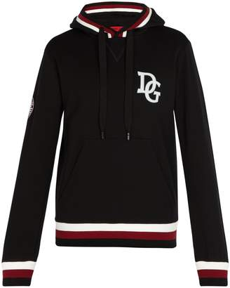 Dolce & Gabbana King-print cotton-blend hooded sweatshirt