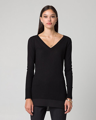 Le Château Cashmere Blend V-Neck Sweater