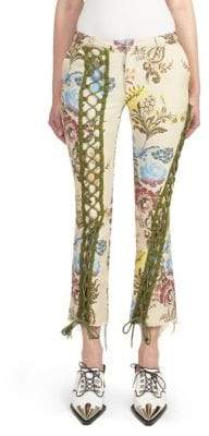 Marques Almeida Marques'Almeida Floral Lace-Up Trousers