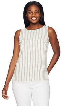 Lark & Ro Women's Sleeveless Crewneck Tank Top