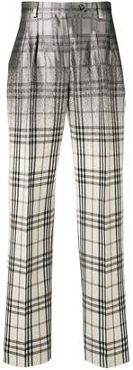 Alberta Ferretti checked straight-leg trousers