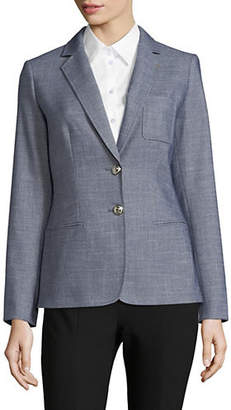 Tommy Hilfiger Two-Button Elbow Patch Blazer