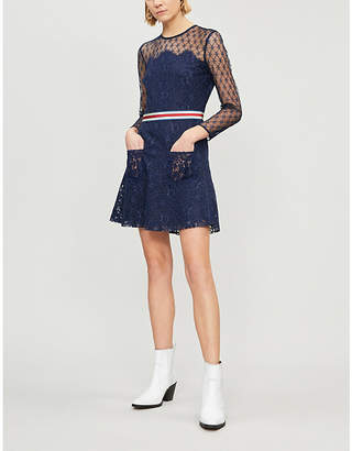 Sandro Alicia floral lace dress